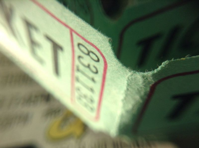 Lucky ticket Extreme Close-up Lucky Winner 50/50 Lottery Tix Tickets Ticket Green Color Close-up Number Lucky Number Draw