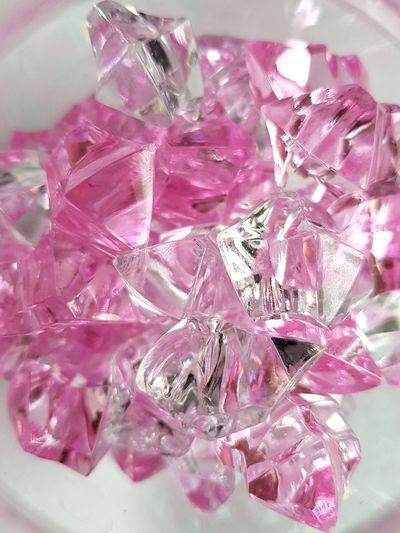 Pink and clear