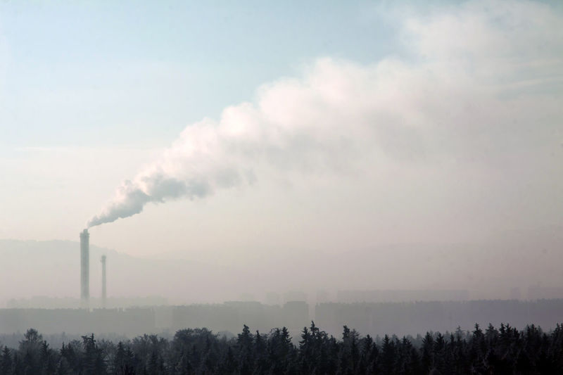 Air Pollution Atmospheric Building Exterior Chemical Chimney Cooling Tower Ecosystem  Emitting Environment Environmental Issues Factory Fumes Industry Nature No People Outdoors Plant Pollution Sky Smoke Smoke - Physical Structure Smoke Stack Tree