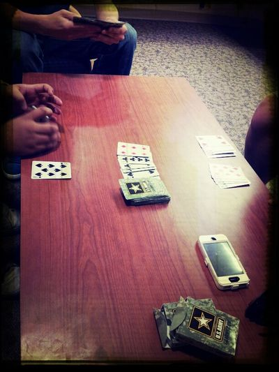 Playing Rummy!