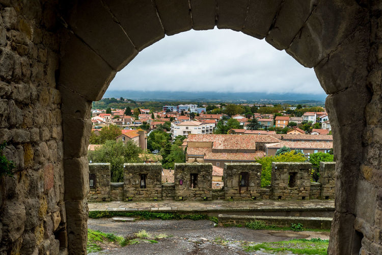 Medieval Architecture Mediterranean  Languedoc UNESCO World Heritage Site City No People Outdoors Cityscape Ruined Wall Ancient Civilization TOWNSCAPE Ancient Town House Window Nature Residential District The Past History Old Day Sky Building Exterior Arch Architecture Built Structure Building