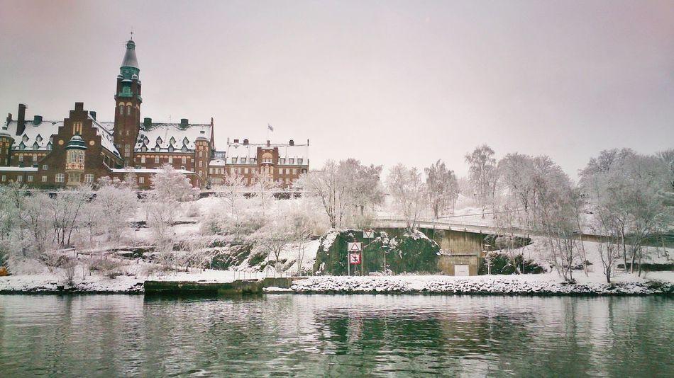 Winter landscape. Landscape Photography Snow Enjoying The Sights, Stockholm Archipelago