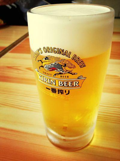 運転お疲れ様でした Drinking Beer