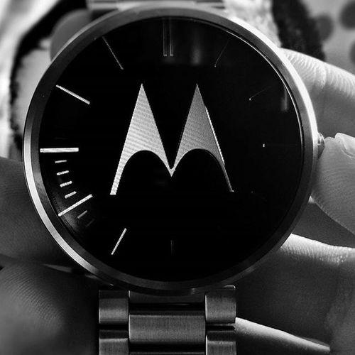 Motorola Moto360 Watch Smartwatch Androidwear Steel NewYear 2016 Black White M часы умныечасы моторола сталь