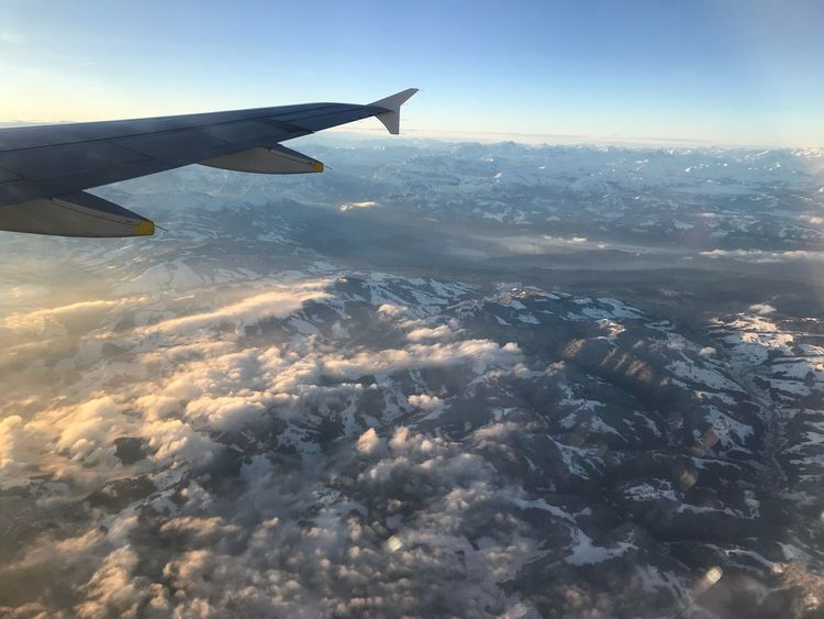 Day Up In The Air No Filter Aerial View Airplane Transportation Airplane Wing Nature Journey Mid-air No People Sky Beauty In Nature Travel Flying