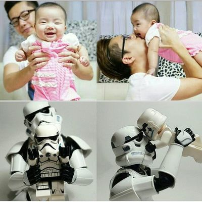Love u with all my heart❤ DAD LEGO Stormtrooper Style Starwars Photogrid Photo Photographer Photooftheday Fatheranddaughter Fatherandson Family Love Photoshoot Capture Caption Quote Instapic Instagood Toy Actionfigures Actionfigure HongKong Disney FamilyLove Model pose baby babygirl loveyou familylove familytime