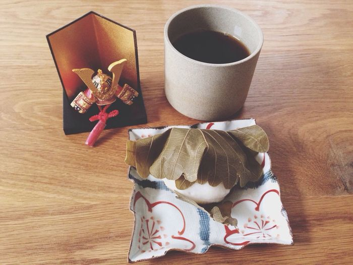 """""""Children's day"""", which is one of Japanese national holidays. Japanese Food Japanese Culture eat kashiwa-mochi Boy'sday"""