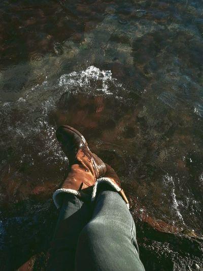 Talland Beach Happiness Water Waves Wet Feet