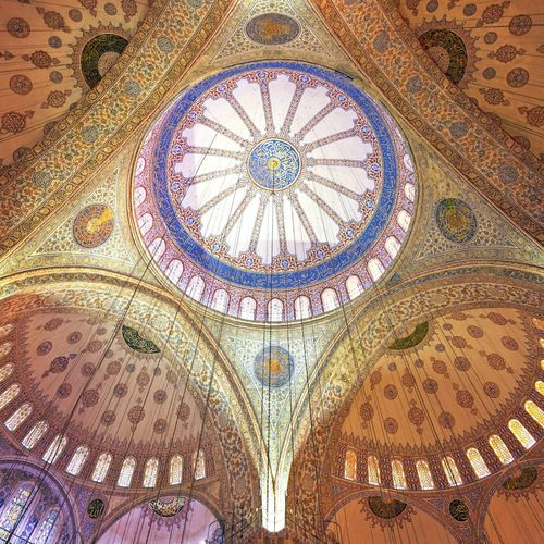 Inside the Blue Mosque (Sultanahmet Camii) - Istanbul, Turkey Blue Mosque Istanbul Elegance Everywhere Historically Yours The Great Indoors Light And Shadow