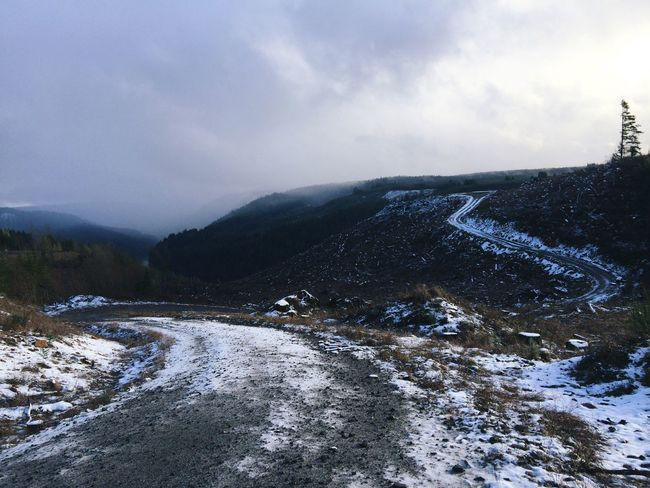 Winter Snow Cold Temperature Mountain Nature Weather Scenics Beauty In Nature Sky Tranquility Landscape Mountain Range Outdoors Mountain Road Natural Condition Shapes In Nature  Trees Perspective View Backgrounds Sky And Clouds Weather ExploreEverything Winter Exploring