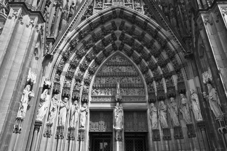 Detail at entrance of cologne cathedral