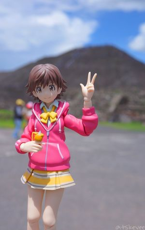 Mio smile at the camera! Real People One Person Day Outdoors Focus On Foreground Leisure Activity Front View Looking At Camera Sky Pink Color Lifestyles Pyramid Portrait Nature Teotihuacan Teotihuacán Pyramids Idolmaster Idolmastercinderellagirls Miohonda Peace ✌ Figma Figurine  Sony A6000 Adorable Mexico