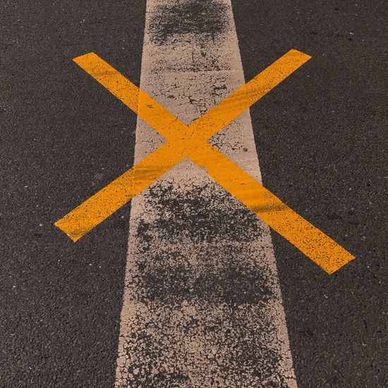 #mark1 Arrow Cross Lines Yellow Flower Asphalt Day Marks No People Outdoors Road Road Marking Street Yellow Yellow Color Minimalism Minimalist Photography  Minimal