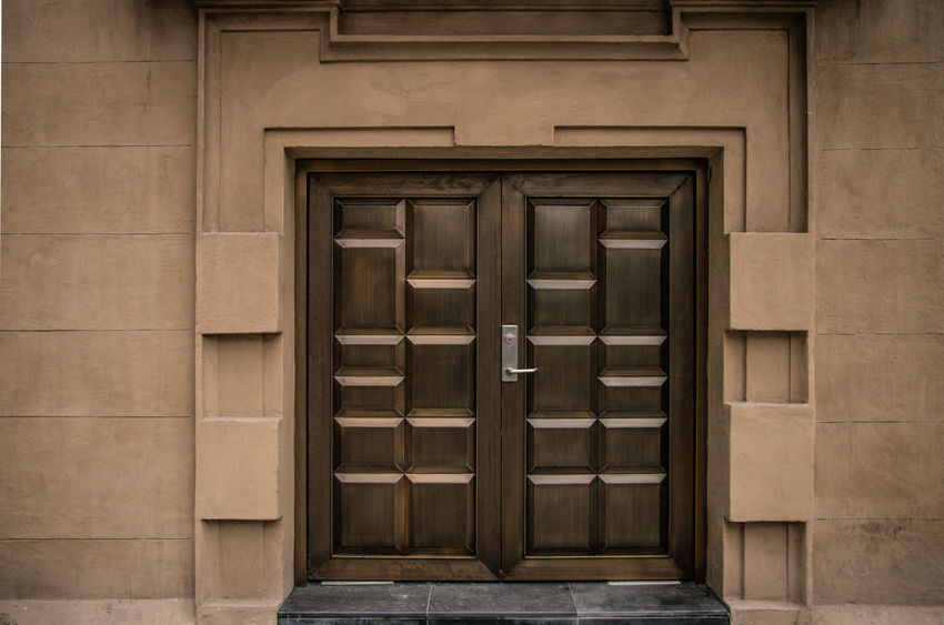 Wooden Door Wood - Material Wooden Wodden Door Architecture Brown Building Building Exterior Built Structure Closed Day Door Entrance No People Outdoors Pattern Privacy Protection Safety Security Texture Window Wood Wood - Material The Traveler - 2018 EyeEm Awards