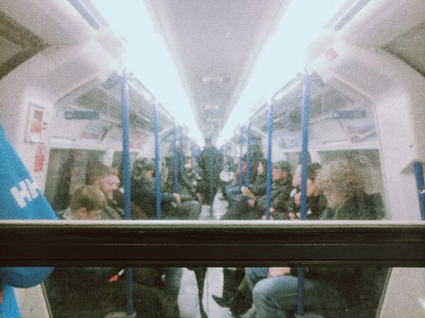 Half way through life i realised i was on the wrong carriage City People Adult Train Train Station Train - Vehicle Train Carriages Train Carriage London London Underground