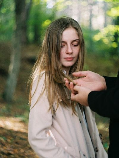 https://www.instagram.com/mariamberodze/ The Week On EyeEm Editor's Picks Young Women Young Adult Women Waist Up Tree Standing Real People Plant Outdoors One Person Long Hair Lifestyles Leisure Activity Land Hand Hairstyle Hair Focus On Foreground Film Photography Day Contemplation Blond Hair Beautiful Woman International Women's Day 2019
