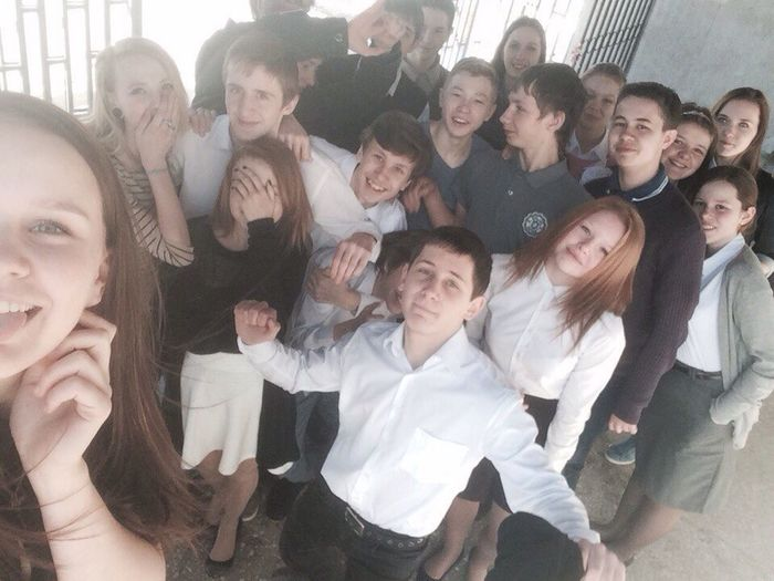 Highschoolfamily At School 9form Happiness Spring Smile Selfie 🏤😇