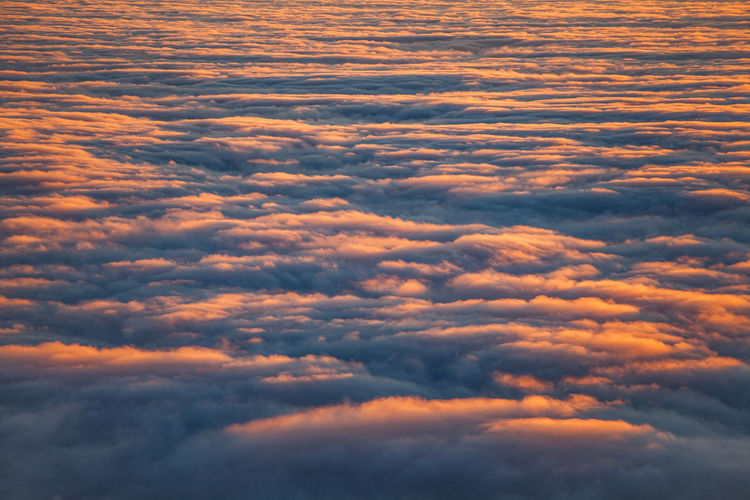 Low angle view of clouds in sky during sunset