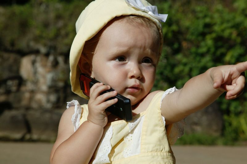 Baby photo Child Using Phone Cell Phone