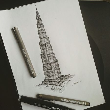 Architecture The Architect - 2015 EyeEm Awards Sketch Enjoying Life My Hobby Artline Drawing