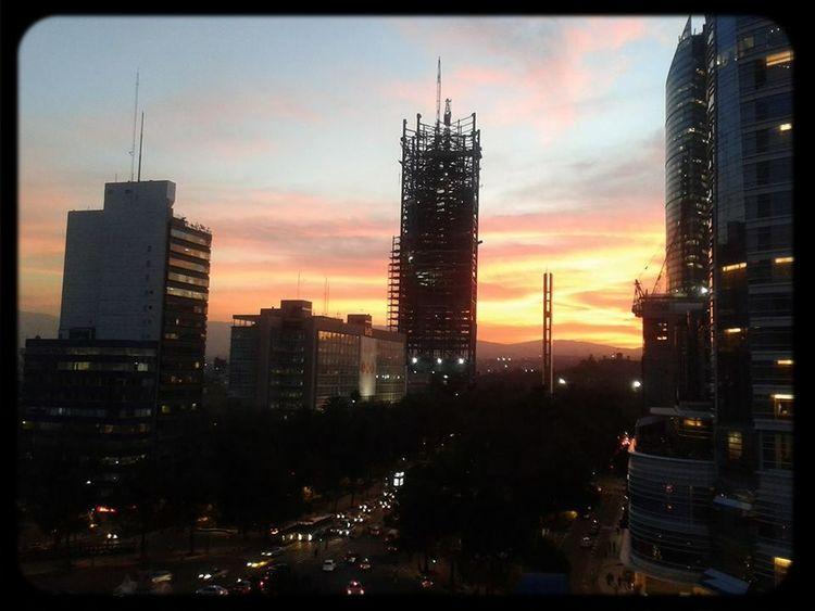FromMyOffice. Cityscapes City Lights Landscape Sunsets