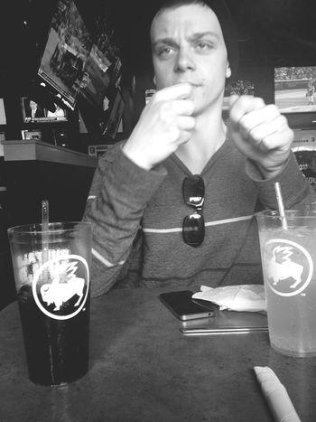 At Buffalo Wild Wings Resturant Boyfriend Love