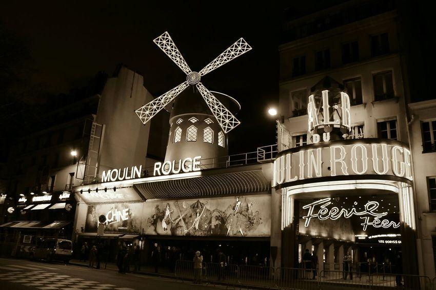 Moulin Rouge Paris City Travel Nightphotography Moulinrouge Paris ❤ Burlesque Windmill Monmartre