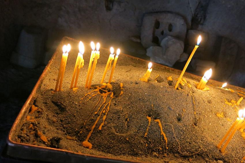 Armenia Armenian Church Geghard Geghard Monastery Burning Candle Celebration Close-up Day Diya - Oil Lamp Flame Food Freshness Glowing Heat - Temperature Illuminated Indoors  Melting No People Oriental Orthodox Church Religion Sweet Food W-armenien