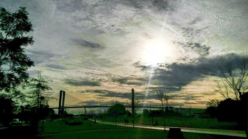 Wintertime Sevilla Puente Clouds And Sky Puesta De Sol Sunset