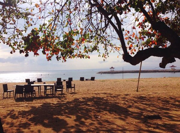 View Beach Afternoon Felling Sanur Bali Indonesia