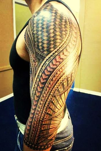 Pacific Islander Samoan Sleeve...one Of The Best I've Seen