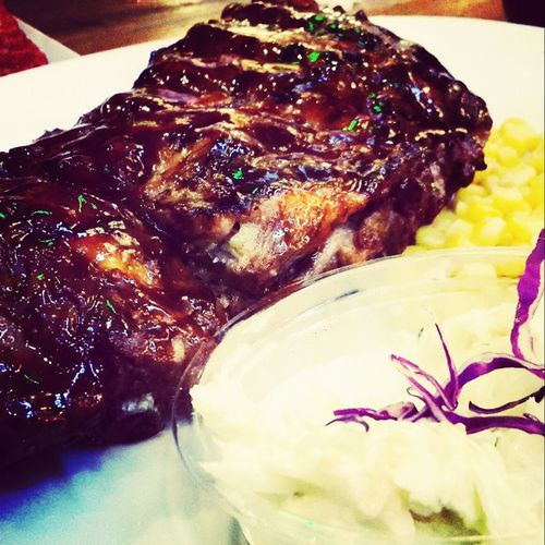 Pork Ribs Grilled Food