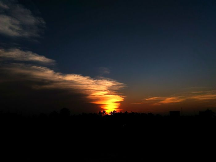 Horizon is on fire Fire Horizon Silhouette Sunset Nature Outdoors Beauty In Nature Scenics