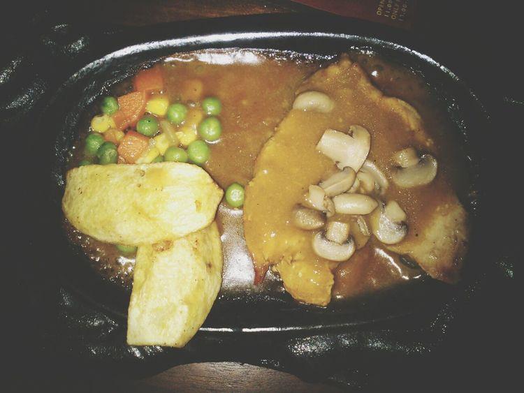 Dinner Steak Chicken Steak Food