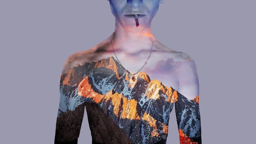 Portrait Only Women Digital Composite Human Body Part Cyberspace Pixelated Photoshop Studio Shot Canong7xmarkii