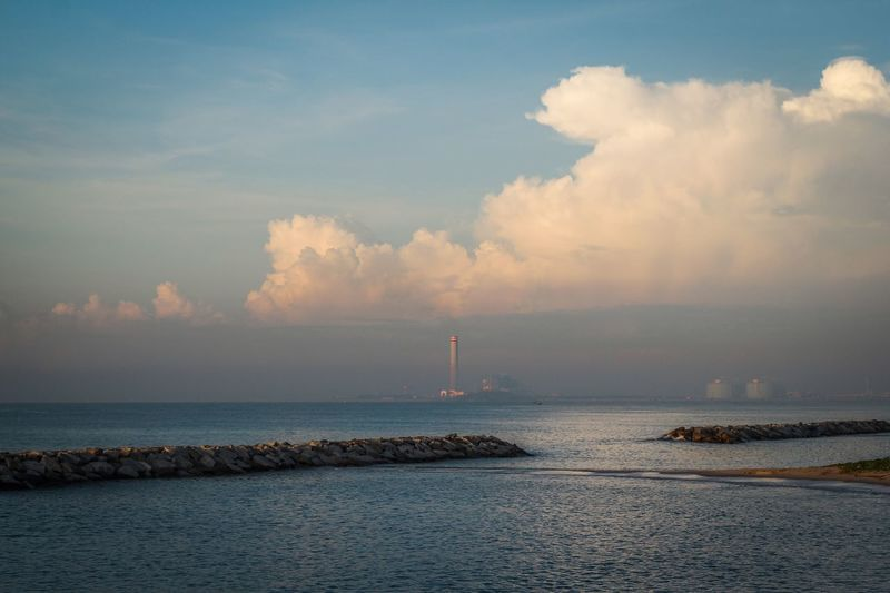 Morning sea Sky Water Cloud - Sky Sea Beauty In Nature Scenics - Nature Horizon Horizon Over Water Nature No People Built Structure Lighthouse Day