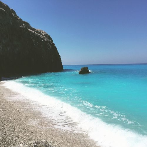 Check This Out In Greece Summer ☀ Sand & Sea Summer In Greece Turquoise Enjoying The Sun Greek Islands Edge Of The World