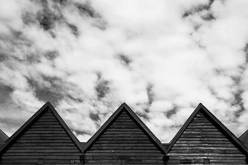 Triangles Abstract Blackandwhite Architecture Whitstable Wood Sky Blackandwhitephotography