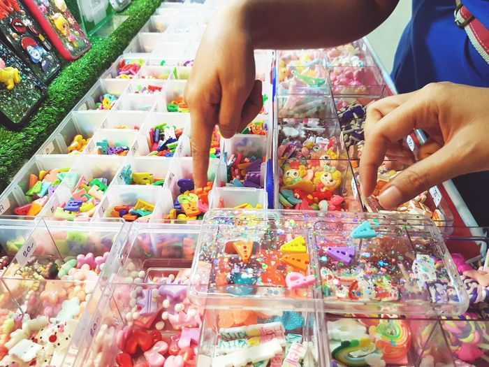 Giftshop Human Hand Multi Colored Business Choice Working Retail  Variation Business Finance And Industry Supermarket