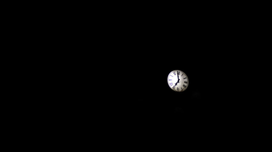 Clock Copy Space Time Dark No People Indoors  Circle Geometric Shape Night Illuminated Low Angle View Instrument Of Time Shape Clock Face Lighting Equipment Darkroom Moon Studio Shot Black Background Space Minute Hand Planetary Moon