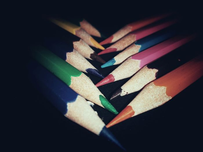 Colouring In Black Background Choice Close-up Colored Pencil Multi Colored Indoors  StillLife StillLifePhotographer Day No People Variation