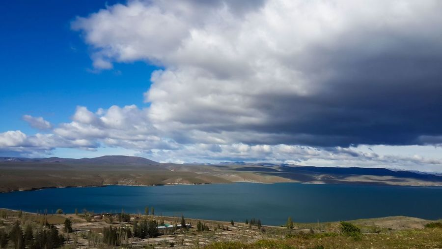 Cluody Sky, near to Esquel, Chubut, Argentina. Beauty In Nature Cloud - Sky Day Horizontal Landscape Mountain Mountain Range Nature No People Outdoors Scenics Sky Water