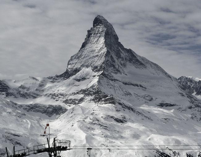 Clouds Cold Temperature Landscape Matterhorn  Mountain Power In Nature Snow Weather White Wind Winter Zermatt