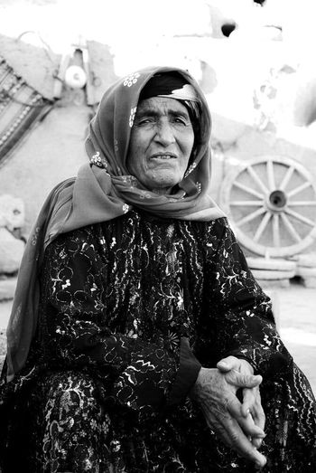 Kurdistan Kurdish People  Old People Wome Black And Whit