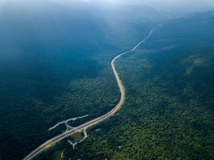 Day Plant Landscape Curve Tranquility No People Land High Angle View Transportation Environment Beauty In Nature Nature Tree Aerial View Tranquil Scene Forest Water Winding Road Scenics - Nature Road Outdoors Above
