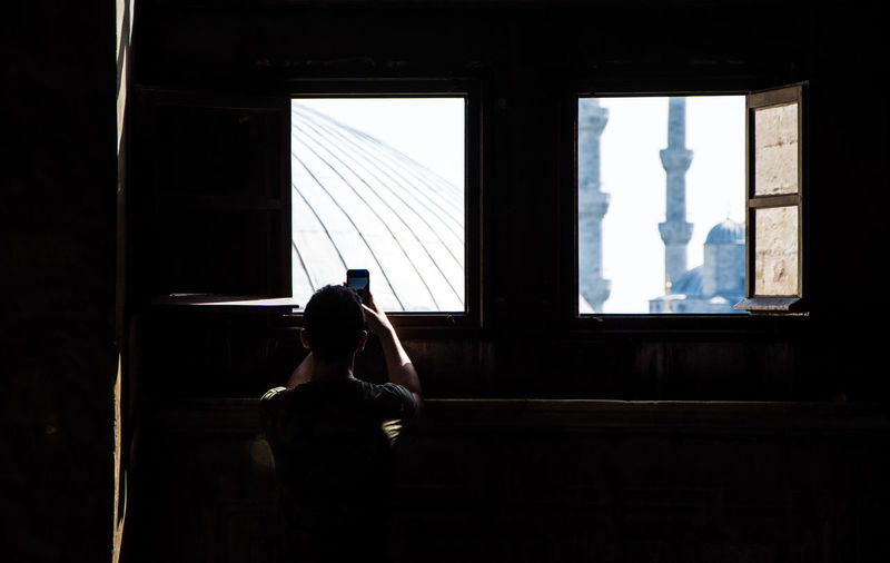 ExploreEverything Adult Architecture Contrast Day Hagiasophia  Indoors  Light And Shadow Mosque One Person People Real People Sitting Travel Destinations Window Women
