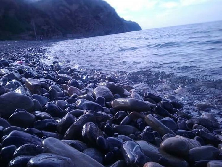 Pebbles Sea Nature Blue Grey Macro Photography Trilye Mudanya Bursa / Turkey