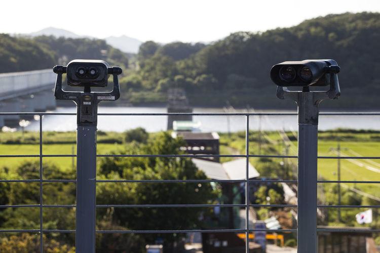 Coin-operated binoculars at imjingak
