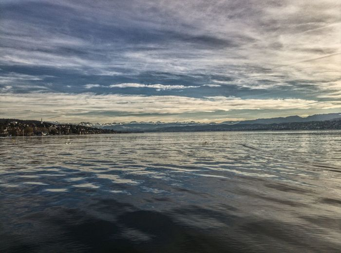 Alpes Atmospheric Mood Calm Cloud Coastline Distant Horizon Over Water Lake Lake Of Zurich Majestic Phoneography PhonePhotography Scenics Sea Shore Sky Tranquil Scene Tranquility Water Wide View Landscapes With WhiteWall The Great Outdoors With Adobe