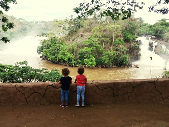 Two People Full Length Tree Rear View Togetherness Real People Child Standing Leisure Activity Bonding Friendship Childhood People Outdoors Men Day Nature Beauty In Nature Gêmeas E&l Gloria2017 Angola Gabela EyeEmNewHere